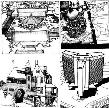 پاورپوینت معرفی وتحلیل انواع سازمان های فضایی در مجموعه های معماری